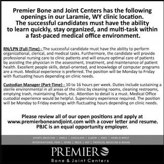 Openings in Our Laramie, WY Clinic Location