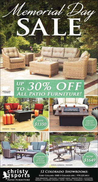 Memorial Day Sale Christy Sports Patio Furniture Fort Collins Co