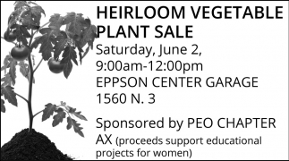 Heirloom Vegetable Plant Sale