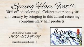 Spring Hair Fest!!