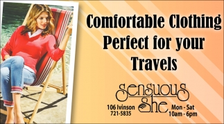 Comfortable Clothing Perfect for Yours Travels