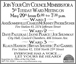 Join Your City Council Members