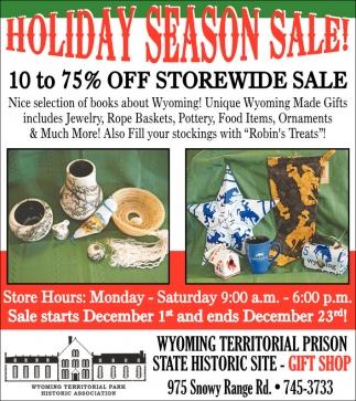 Holiday Season Sale!
