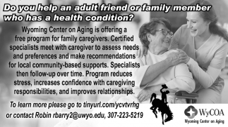 Do You Help an Adult or family Member Who Has a Health Condition?