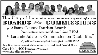 The City of Laramie Announces Openings on Boards & Commissions