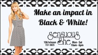 Make an Impact in Black & Withe!