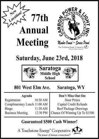77th Annual Meeting