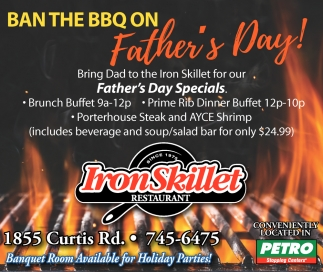 Ban the BBQ on Father's Day!