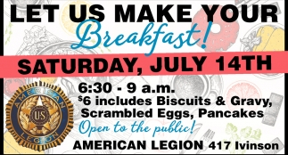 Let us Make Your Breakfast!