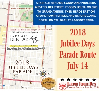 2018 Jubilee Days Parade Route