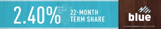 2.40% 22-Month Term Share