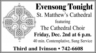 Evensong Tonight