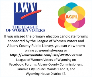 If You Missed the Primary Election Candidate Forums