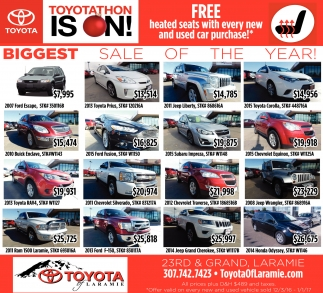 The Biggest sales event of the year is happening NOW!