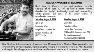 Mexican Weaver in Laramie