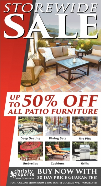 Storewide Sale Christy Sports Patio Furniture Fort Collins Co