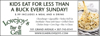 Kids Eat for Less than a Buck Every Sunday!