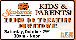 Trick or Treating Downtown!