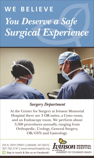 We believe you deserve a safe surgical experience