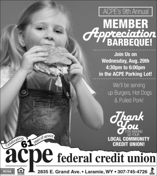 Member Appreciation Barbeque!