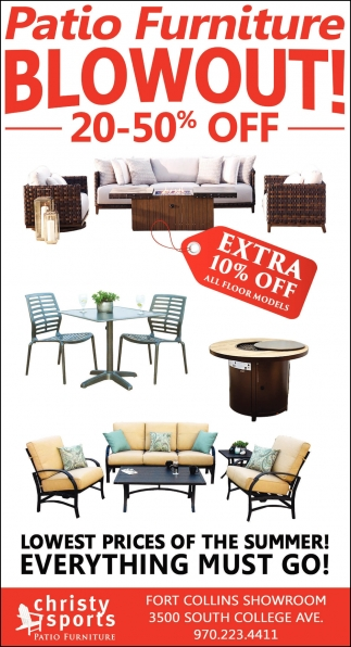 Patio Furniture Out Christy, Patio Furniture Fort Collins Co