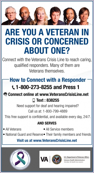 Are you a Veteran in Crisis or Concerned about One?