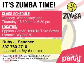 It's Zumba Time!