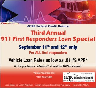 Third Annual 911 First Responders Loan Special