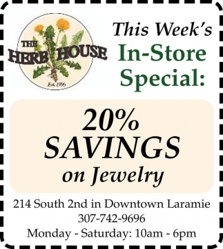 20% Savings on Jewelry