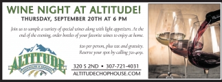 Wine Night at Altitude!