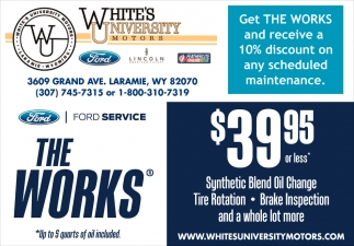 Get The Works White S University Motors