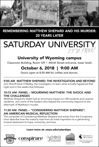Remembering Matthew Shepard and his Murder