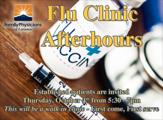 Flu Clinic Afterhours