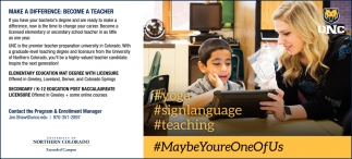 Make a Difference: Become a Teacher