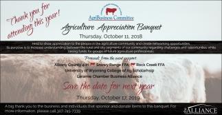 Agriculture Appreciation Banquet
