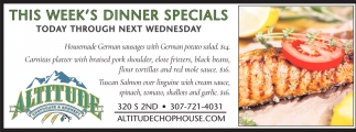 This Week's Diner Specials