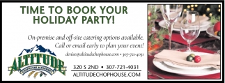 Time to Book your Holiday Party!