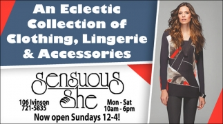 An eclectic collection of clothing, lingerie and accesories