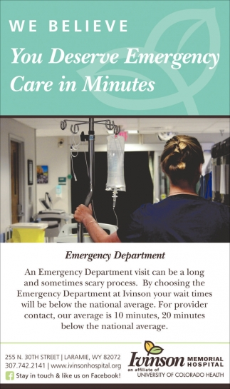 We Believe You Deserve Emergency Care in Minutes
