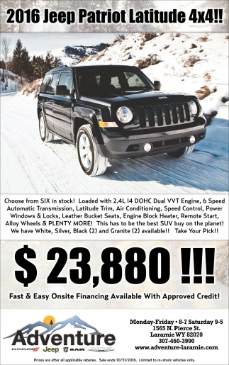 2016 Jeep Patriot Latitude 4x4!!