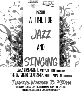 A Time for Jazz and Singing