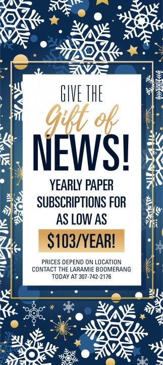Give the Gift of News!