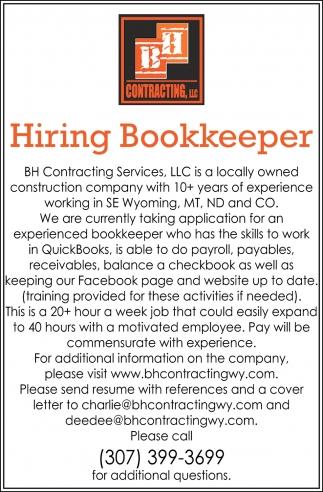 Hiring Bookkeeper