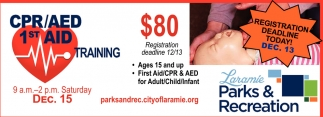 CPR/AED 1st Aid Trainning