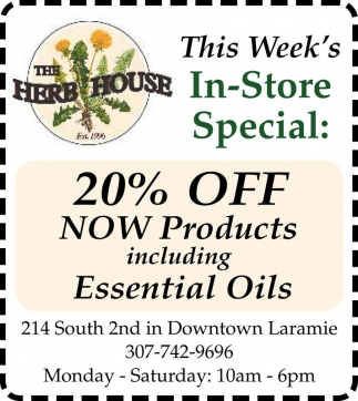 20% OFF Now Products including Essential Oils