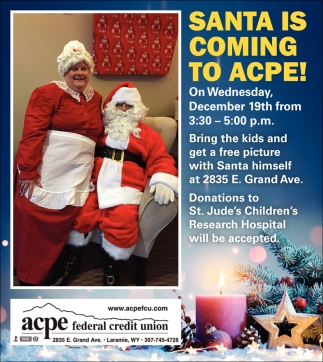 Santa is Coming to Acpe!