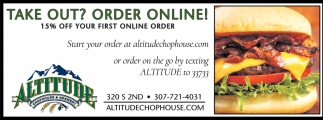 Take Out? Order Online!