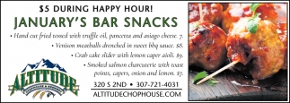January's Bar Snacks