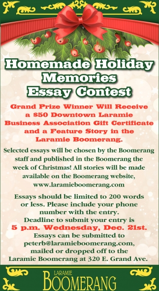 Homemade Holiday Memories Essay Contest