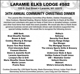 34th Annual Communit Christmas Dinner